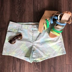 Summer Ready Palm Leaf Print Shorts